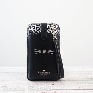 NWT Kate Spade New York Meow Cat North South Tab Phone Crossbody
